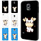 Cartoon Cow Touch Screen Flip Full Cover Case for iPhone 6S Samsung S6 S7 Edge