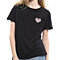 Fashion Colorful Leopard Heart Summer Short Sleeve O-Neck Cotton T-Shirt Top Tee