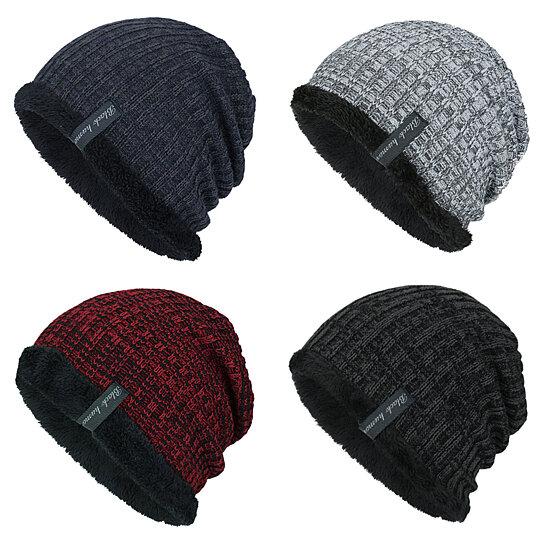 Buy Fashion Knitted Thicken Warm Winter Hat Men Casual Woolen Yarn Hip Hop  Cap by Bluelans on OpenSky 475046cd1e72