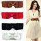Fashion Lady Wide Elastic Bowknot Waist Belt Dress Waistband Accessory Gift