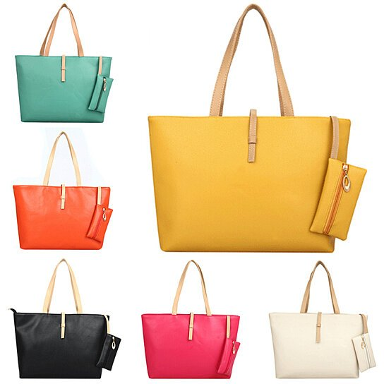 789547e0b088 Trending product! This item has been added to cart 26 times in the last 24  hours. Fashion Women Faux Leather Tote Zipper Shoulder Bag Handbag Shopping  Purse ...