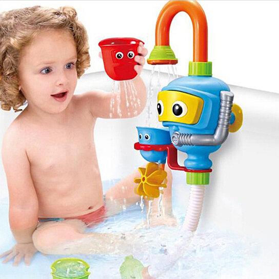 Buy Fun Baby Bath Toy Spout Play Water Tap Folding Spray Shower ...