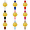 Girl Fashion Quartz Cute Cartoon Emoji Smile Print Round Case Wrist Watch Gift