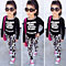 Kids Girls Cute Clothing Set Top Pullover T-Shirt Skinny Pants Trousers Outfits
