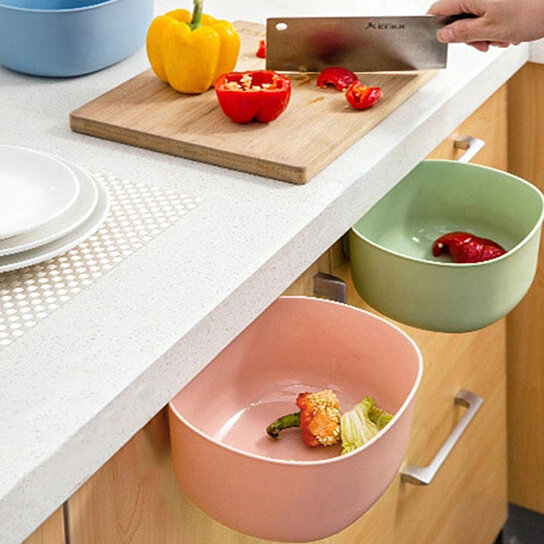 Buy Kitchen Cabinet Hanging Garbage Waste Bin Can Trash Barrel