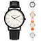 Lady Girl Simple Faux Leather Band Round Dial Quartz Casual Wrist Watch Gift