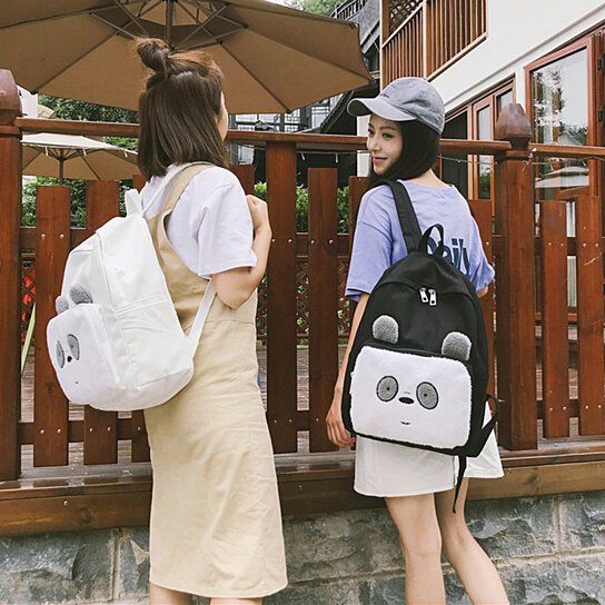 65ab838f023 Buy Lovely Cartoon Panda Canvas Women Student Travel Casual Backpack  Shoulders Bag by Bluelans on OpenSky