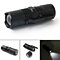 Mini Zoomable 4 Modes LED Flashlight Torch Magnetic Tail Clip Hunting Light
