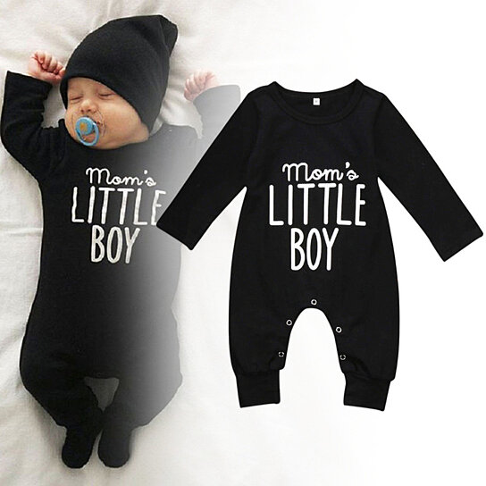 308940e02e69 Buy Mom s Little Boy Letter Print Newborn Infant Baby Boy Romper ...