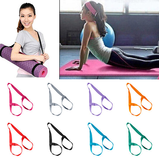 Buy Portable Fitness Yoga Mat Belt Rope Elastic Shoulder Carrier Strap Two Way Sling By Bluelans On Opensky