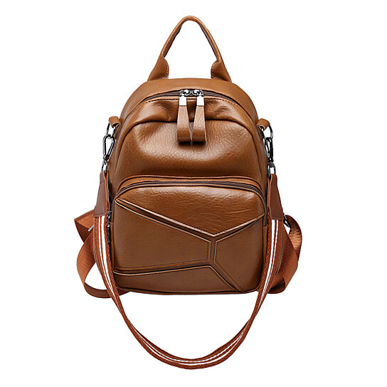 d74e1078b70 Buy Retro Women Faux Leather Multi-function Backpack Travel Bag with  Shoulder Strap by Bluelans on OpenSky