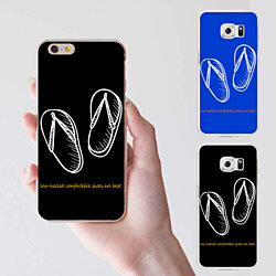 Slippers Shoes Phone Back Case Cover for iPhone 6 7 Plus Samsung Galaxy S6 Edge