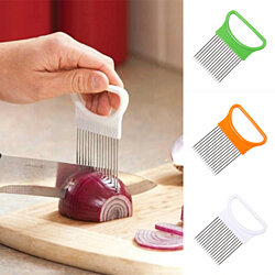 Stainless Steel Onion Holder Slicer Vegetable Cutter Home Kitchen Gadget Tool