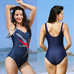 1e71b65836 Summer Women Beach Bathing Swimwear Sports One-Piece Large Monokini Swimsuit