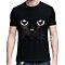 Unisex Summer Fashion Cat Eyes Print Cotton Short Sleeve Lovers' T-Shirt Top Tee