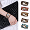 Women Fashion Multilayer Faux Leather Band Rhinestone Chain Bracelet Wrist Watch