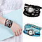 Women Multilayer Knitted Band Magnet Buckle Rhinestone Bracelet Quartz Wrist Watch