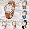 Women's Casual Roman Numerals Faux Leather Band Analog Quartz Wrist Watch Gift