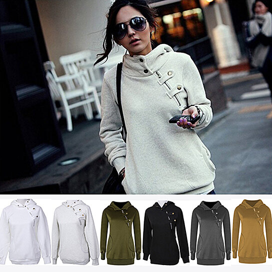 ce146bd066251 Trending product! This item has been added to cart 98 times in the last 24  hours. Women s Fashion Korean Style Warm Hooded Zip Hoodie Jacket Coat  Outerwear