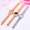 Women's Fashion Rhinestone Inlaid Hollow Alloy Strap Analog Quartz Wrist Watch