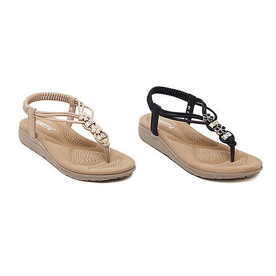35ebb7c607377 Buy Women s Fashion Summer Bohemian Style Rhinestone Flat Flip Flops Sandals  Shoes by Bluelans on OpenSky
