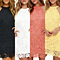 Women's Halter Neck Lace Sheath Bodycon Mini Cotton Party Cocktail Short Dress