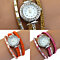Women's Infinity Korea Velvet Rhinestone Multilayer Quartz Bracelet Wrist Watch