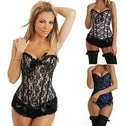 Women s Sexy Babydoll Lace Nightwear Shapewear Corset Body Shaper +  Underwear d287c32e6