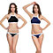 Women Sexy Halter Color Block Two Pieces Swimwear Summer Beach Bikini Set