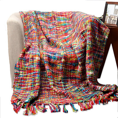 Fashion decorative cape blanket decoration carpet sofa tassel knitted blanket for home