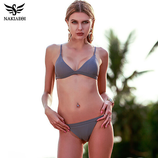 5b41e92999b Buy NAKIAEOI 2017 New Sexy Micro Bikinis Women Swimsuit Swimwear Halter  Brazilian Bikini Set Beach Bathing Suits Swim Wear Biquini by Bohemian Gift  Store on ...