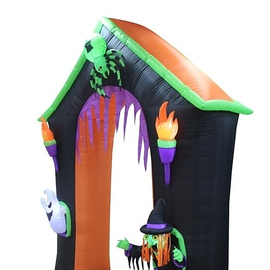 Buy Haunted House Archway With Ghost, Witch & Spider