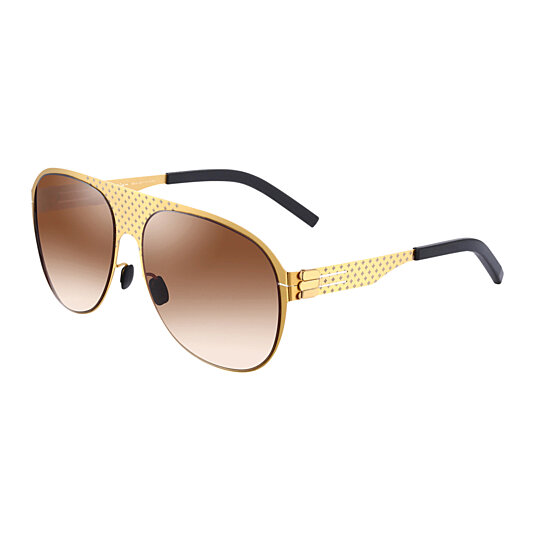 Buy i-Design Gold Frame/Dark brown Gradient Lens Aviator ...