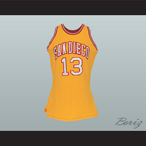 Buy San Diego Wilt Chamberlain 13 Old School Basketball