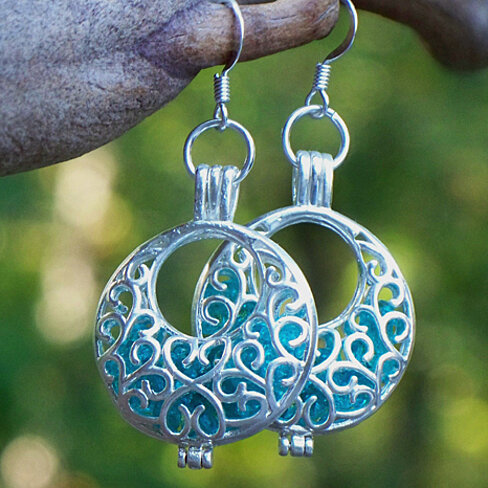 Buy Recycled Vintage Mason Jar Silver Filigree Hoop ...