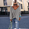 Autumn And Winter Long-sleeved V-neck Sweater