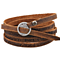 Five Laps Leather Bracelet