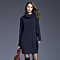 Knit Dress Turtleneck Sweater