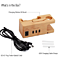 3-USB Ports Universal Wooden Dual Charging Dock Station For iWatch and Smart Phones