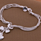 Five Hearts Silver-Plated Bracelet