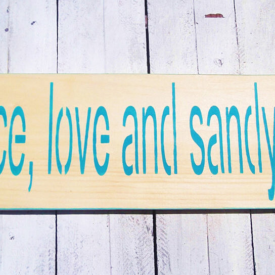 Love Decor Signs: Buy Beach Wedding Signs, Peace Love & Sandy Feet, Beach