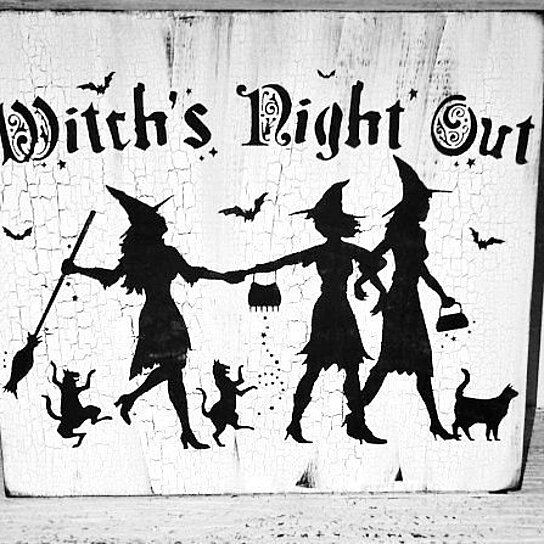 Buy Halloween Decor Pretty Witch Sign Quot Witch S Night Out
