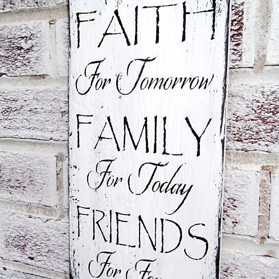 Buy Inspirational Art Quot Faith Family Friends