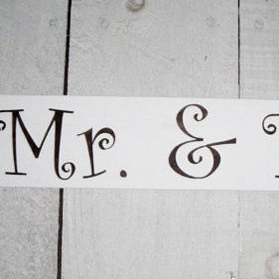 Buy mr mrs wedding table sign mr and mrs sweetheart for Table sign design