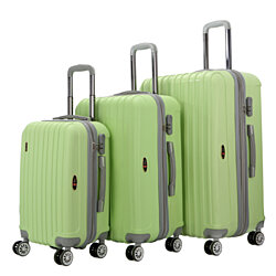 Brio Luggage Two-Tone PP Thick-Ribbed Expandable Suitcase Set #PP313