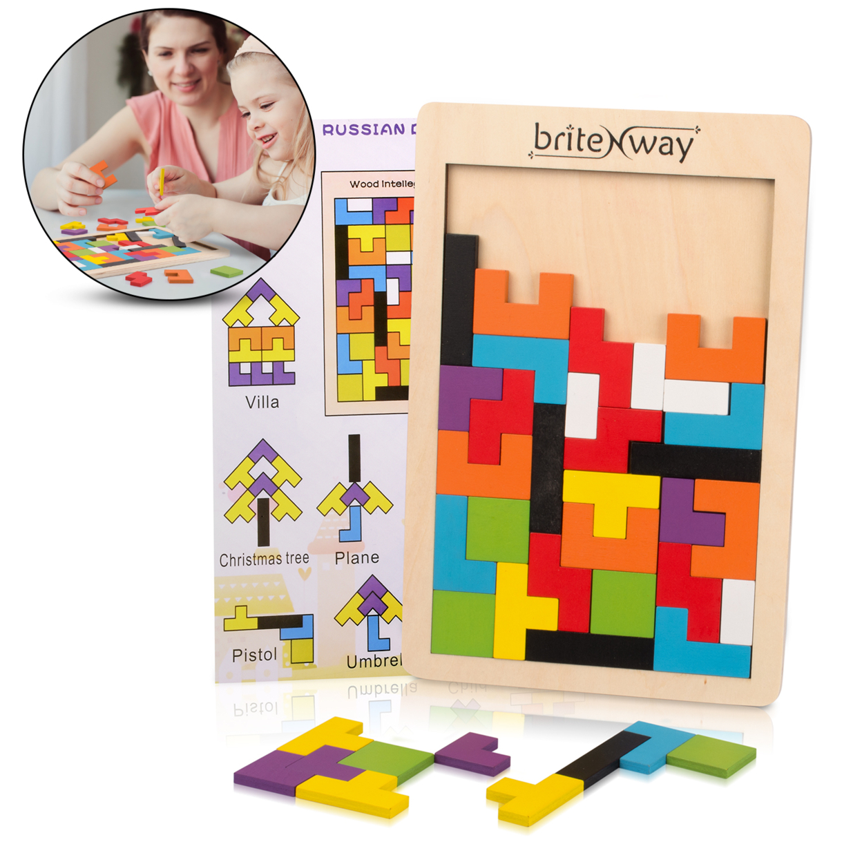 Fun & Educational Wooden Tetris Puzzle Toy For Toddlers ...