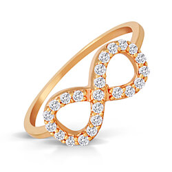 18K Gold Over Sterling Silver Cubic Zirconia Infinity Ring