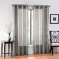 "Ruthy's Textile 2 Piece Voile Window Sheer Curtains Grommet Panels for Bedroom Decor & Living Room, Size 54"" X 84"""