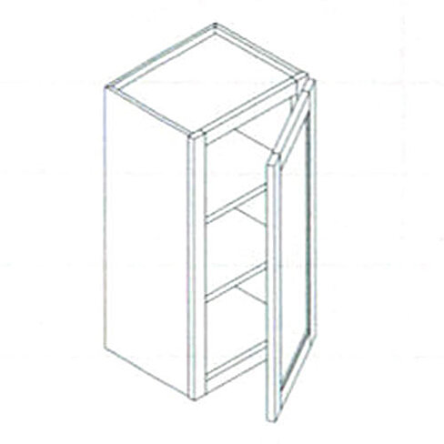 Buy 30 inch high wall cabinet 1dr 2shelf not assembly for Kitchen cabinets 40 inches high