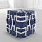 Butler Berkeley Blue Cotton Pouffe